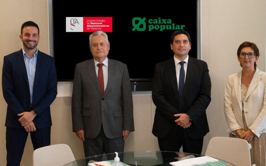 El Colegio de Gestores Administrativos de Valencia aumenta los servicios a sus colegiados gracias a un acuerdo con Caixa Popular